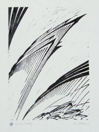 リノリウム彫版 Strohmeyer - Chilehaus (