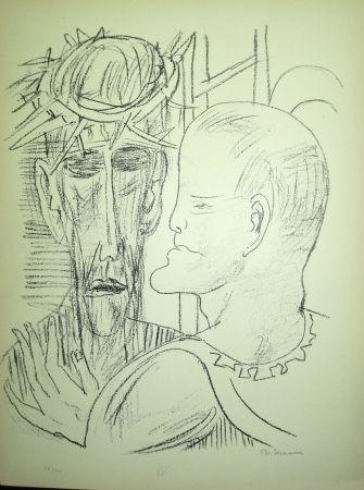 リトグラフ Beckmann - Christ and Pilate