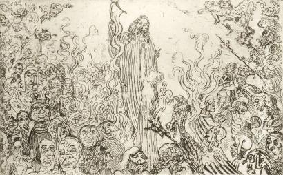 エッチング Ensor - Christ descendant aux enfers