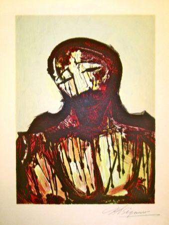 リトグラフ Siqueiros - Christ Portrait
