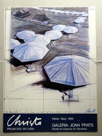 掲示 Christo - Christo Joan Prats 1986 signed by artist
