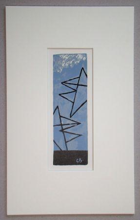 リトグラフ Braque (After) - Ciel Gris II.
