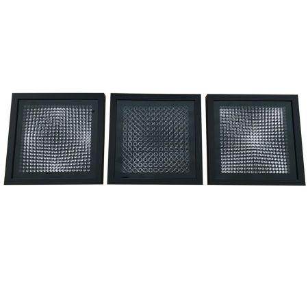 技術的なありません Vasarely - Cinétiques VI Black 3 works