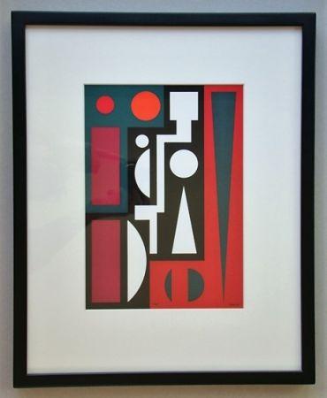 シルクスクリーン Herbin - Cinq, 1954