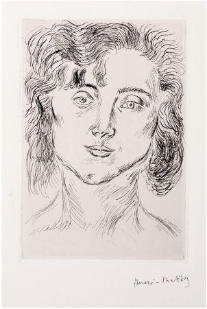エッチング Matisse - CINQUANTE DESSINS. GRAVURE ORIGINALE SIGNÉE : La fille de l'artiste (1920).