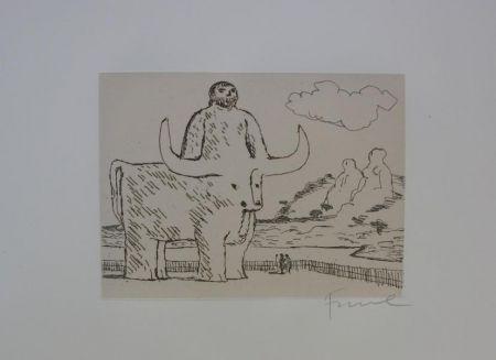 エッチング Fiume - Cinque acqueforti per i greci tradotti da Salvatore Quasimodo
