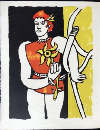リトグラフ Leger - Cirque : Jongleuse au Tournesol. 1950