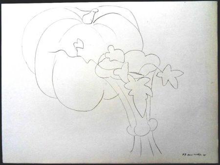 リトグラフ Matisse - Citrouille et Fleurs