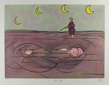 リトグラフ Adami - Clair de lune