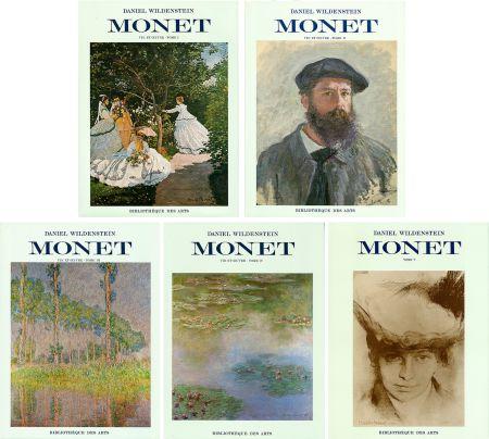挿絵入り本 Monet - CLAUDE MONET. CATALOGUE RAISONNÉ (Peintures, pastels et dessins). 5 volumes. 1974-1991