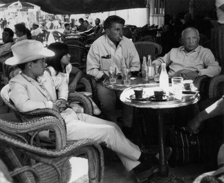 写真 Clergue - Claude, Paloma, Paulo Et Leur Père Picasso
