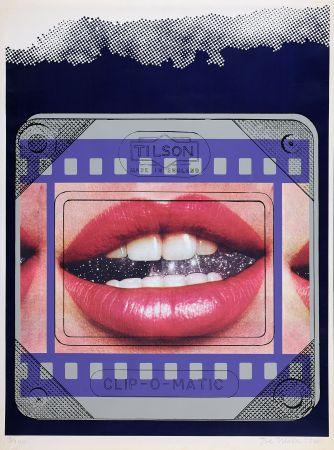 シルクスクリーン Tilson - Clip O Matic Lips