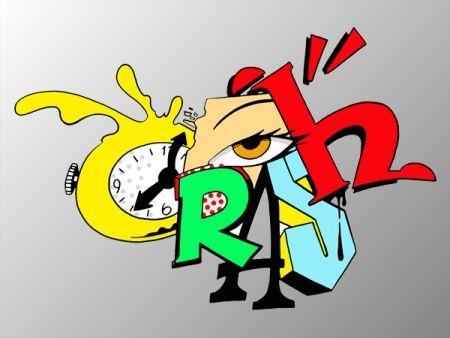 シルクスクリーン Crash - Clock 2
