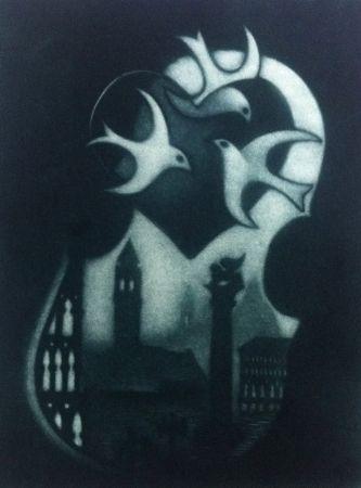 メゾチント彫法 Schkolnyk - Coeur de venise