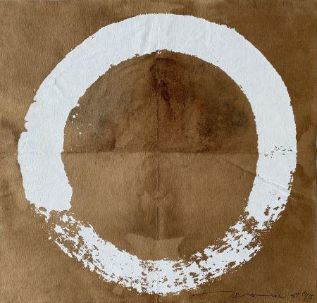 シルクスクリーン Murakami - Coffee Zen Enso: White