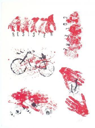 リトグラフ Arman - Colère, Résister