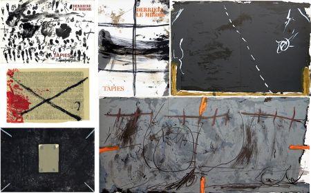 挿絵入り本 Tapies - COLLECTION COMPLÈTE des 7 volumes de la revue DERRIÈRE LE MIROIR consacrés à Antoni Tàpies: 30 LITHOGRAPHIES (de 1967 à 1982).