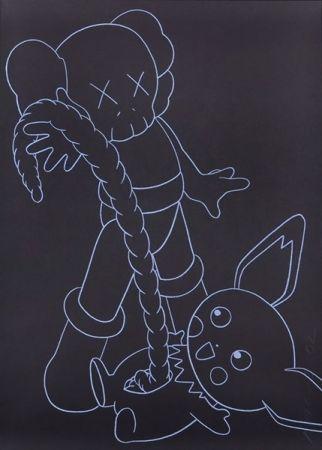 シルクスクリーン Kaws - Companion vs. Pikachu