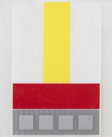 多数の Soto - Composicion en Amarillo Blanco y Rojo