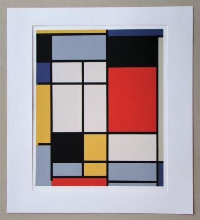 シルクスクリーン Mondrian - Compositie - 1921