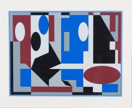 リトグラフ Vasarely - Composition