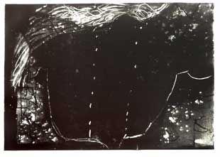 リトグラフ Tàpies - Composition