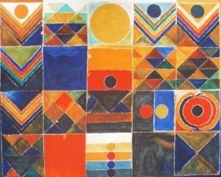 リトグラフ Raza - Composition