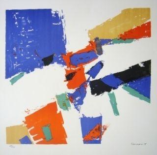 リトグラフ Germain - Composition