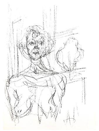 リトグラフ Giacometti - Composition