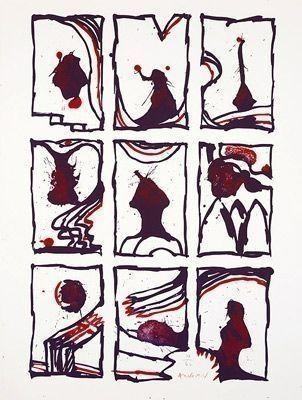 リトグラフ Alechinsky - Composition
