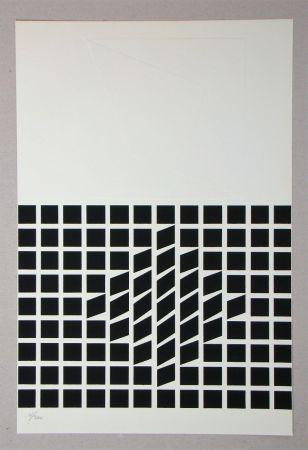 シルクスクリーン Vasarely - Composition