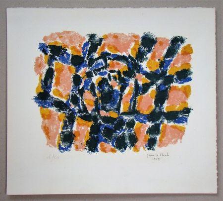 リトグラフ Le Moal - Composition - 1959