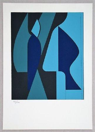 シルクスクリーン Vasarely - Composition - Geh Durch Den Spiegel