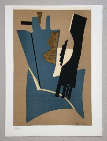 リトグラフ Magnelli - Composition - Papier collé 1948
