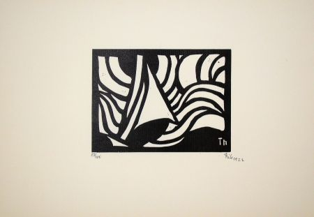 木版 Maatsch - Composition, 1922