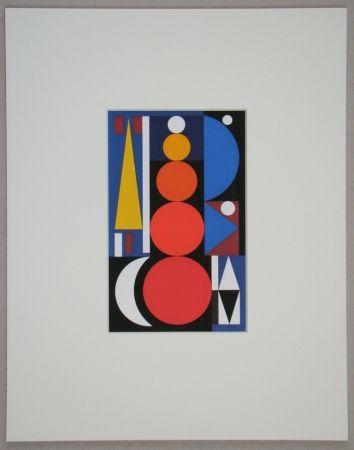 シルクスクリーン Herbin - Composition, 1949