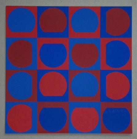 シルクスクリーン Vasarely - Composition, 1964