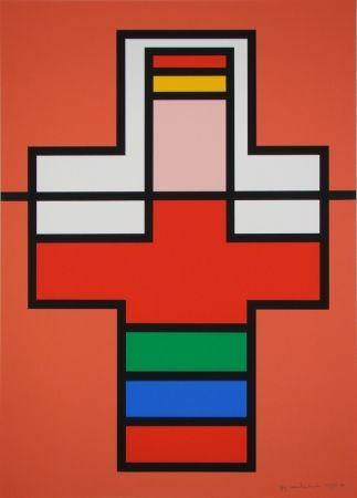 シルクスクリーン Vandenbranden - Composition, 1988