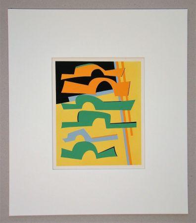 シルクスクリーン Magnelli -  Composition abstrait