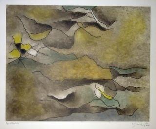 エッチングと アクチアント Singier - Composition abstraite