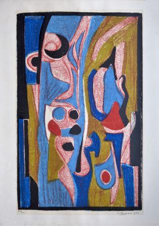 リトグラフ Brignoni - Composition abstraite