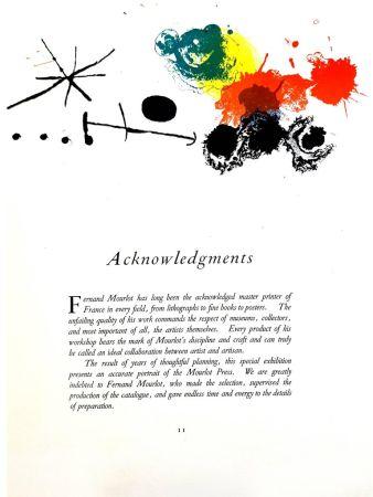 リトグラフ Miró - Composition Abstraite