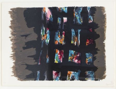 リトグラフ Manessier - Composition abstraite