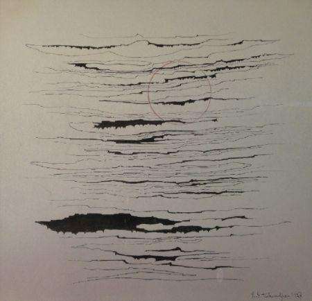 モノタイプ Tutundjian - Composition abstraite /Abstrakte Komposition