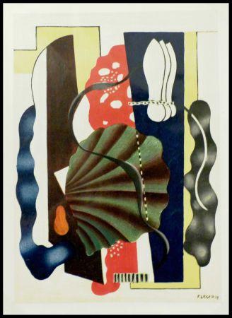 リトグラフ Léger (After) - COMPOSITION AU COQUILLAGE