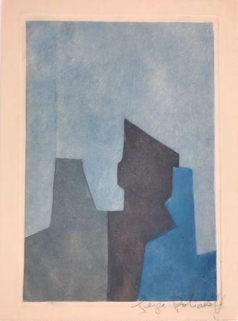 エッチングと アクチアント Poliakoff - Composition bleue XXIV
