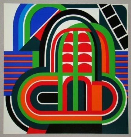 オフセット Dewasne - Composition constructif, 1971