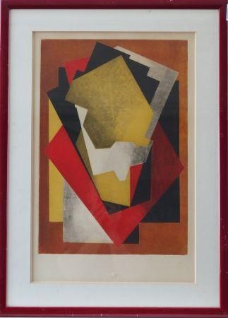 エッチングと アクチアント Villon - Composition cubiste