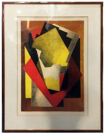 エッチングと アクチアント Villon - Composition Cubiste (1927)