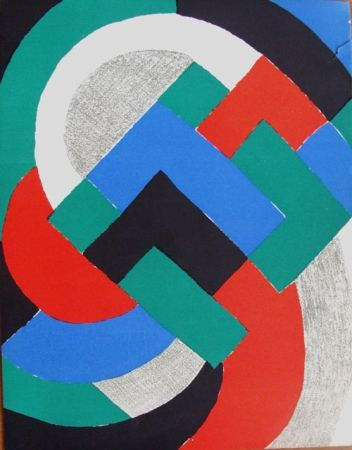リトグラフ Delaunay - Composition du XXe Siecle
